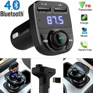 Chargers X8 FM Transmitter Aux Modulator Bluetooth Handsfree CarKit Audio MP3 Player with 3.1A Quick Charge Dual USB Car Charger Accessorie MQ30