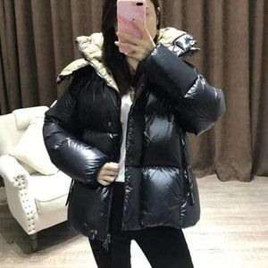 Winter Brand Monclair Women Coat Ultra Light Green Black Down Puffer Jacket Hooded Girl Lady