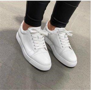 Favori Beyaz, Siyah Deri Vieira Rahat Düz, Moda Kadınlar Için Kırmızı Alt Sneakers, Erkekler Ucuz Eğitmen Yürüyüş Lüks Tasarımcı Partisi EU47