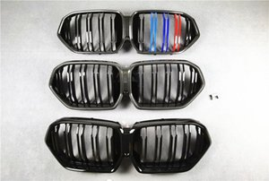 Double Slat 3 Colors Carbon Pattern Front Kidney Grill Grille For BMW X6 G06 Glossy Black  M Color Mesh Grilles