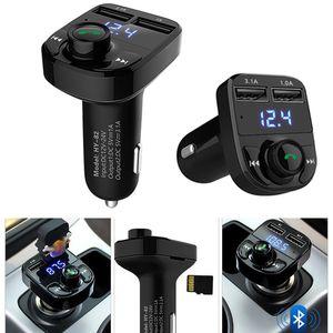 HY-82 3.1a ميناء USB المزدوج يدوي شاحن سيارة بلوتوث fm الارسال مع شاشة LED دعم بطاقة SD يو القرص
