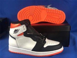 أعلى جودة 1 عالية og الكهربائية أحذية كرة السلة البرتقال مشبك هش 4.0 1 ثانية أبيض برتقالي أسود رجل أحذية رياضية 555088-180 مع صندوق