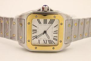 Relojes de pulsera Top Diseñador Men Reloj SANTO WSSA0018 Mecánico Automático Mecánico Dial Blanco Sapphire Clase de acero inoxidable Lujo