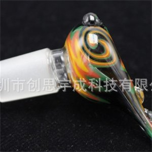 Beautiful Glass Bowl Bongs Water Smoking Bowl With 14mm or 19mm For Glass Bubbler And Ash Catcher Glass Bong Bowl For Water Pipe 476 R2