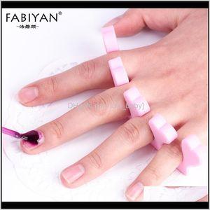 Nail Art Toes Fingers Foots Sponge Soft Gel Uv Beauty Tools Polish Manicure Pedicure Pink Professional N0Onp Toe Hfcyd