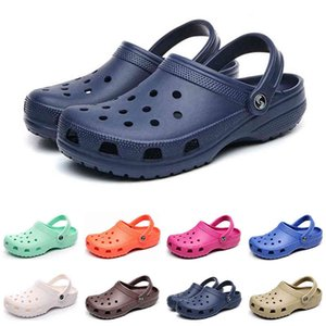 men women fashion sandals Clog Triple white black red yellow Pink Storm blue mens slippers beach el shoes size 36-45 HM7K
