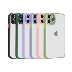 TPU Soft Phone Cases for Apple iPhone 12 11 Pro MAX XS XR SE 2 multi color Matte back cover silicone