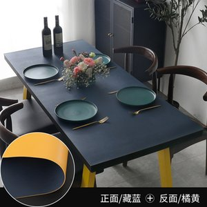 tea Leather Nordic tablecloth wash free solid color table Pu simple modern home TV cabinet mat