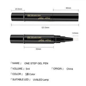 Nail Polish One Step Pen 5ML Soak Off LED Varnish Art Tools For Women Girls HJL2021