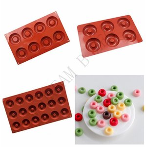 6 8 18 Slots Silicone Donut Mold Pan DIY Doughnuts Mould Maker Non-stick Durable Cake Molds Pastry Baking Tools