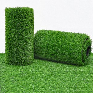 Realistic Thick Artificial Grass Turf -2M×5M Indoor Outdoor Garden Lawn Landscape Synthetic Mat - Fake Rug Decorative Flowers & Wreaths