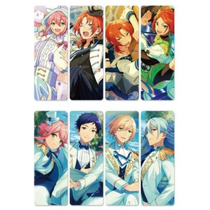 Bookmark 8pcs Ensemble Stars Anime Bookmarks Waterproof Transparent PVC Plastic Beautiful Book Marks Gift