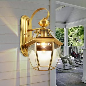 Outdoor Wall Lamp Copper E27 Bulb Up Down Lights Garden Coach Yard Outside Exterior Garage Sconces Porch Light Lamps