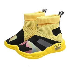 CNFSNJ 2019 autumn new fashion children's sports sneakers boys girls casual shoes high-top air mesh shoes 26-36 T200709