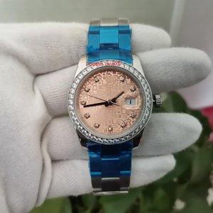 Topselling Высококачественные наручные часы 36 мм 126333 Золотой циферблат Алмаз Bezel Asia 2813 Движение Автоматические мужские Женские Мужские Часы Часы
