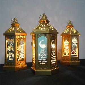 Ramadan Lamp EID Mubarak Ramadan Party LED Hanging Lanterns 14*28cm Warm Lights Islam Muslim Event Party Decorations