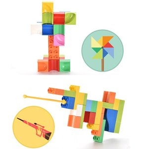 balls track building blocks interesting shapes assembly display diy various rolling route creative design for kids imagination 05