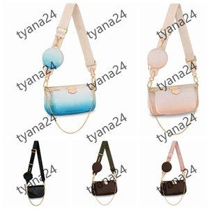 Bandoulière sacs épaules épaules sacs sac femmes dame 2021 whosale mode hottin chaîne pure couleur modèle fleurs printemps et été nouveautyle dames bleue blanc