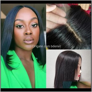 Wigs Pu Silk Base 2*5 Closure Bob Straight 100Percent Preplucked Human Hair Transparent Lace Wig For Black Women Remy Sovce 1Aonb