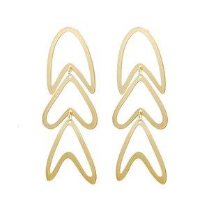 Fashion 925 Silver Earrings 2021 Fish Geometric For Women Hanging Drop Earing Modern Jewelry Gift Hoop & Huggie