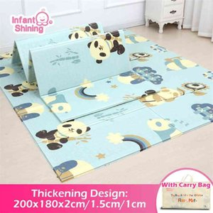 Infant Shining Baby Mat Playmat Kids Carpet Play 200*180*1cm Foam XPE Puzzle Game Pad for Infants Educational Soft 210915