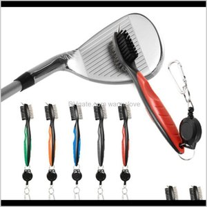 Other Products Mini Dual Golf Club Brush For Tools Nylon Wire Bristles Cleaner With Keychain Portable Brushes Zip Line Multifunction K Pn0Ms