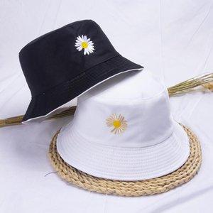 와이드 브림 모자 여름 양동이 모자 여성 더블 양면 데이지 밥 힙합 어부 고품질 파나마 소년 소녀 야외 태양 바이저
