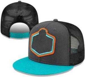 Custom Football 2021 Проект Snapback Cap 32 Team Hats Graphite Черный Цвет Смешивания Смешивание Заказать Все крышки высшего качества Мужчины Женщины Регулируемая шляпа A2
