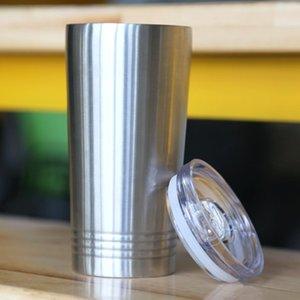 Gobelet de 16oz avec couvercle en acier inoxydable Tumbler Bouteille de bouteille de bobine à piquer à soupe de cuisson isolé de bière tasse de voyage classique