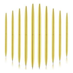 Ballpoint Pens 30 Pieces Pen Lightweight Black Ink Metal Set For Business Office Supplies (Gold)