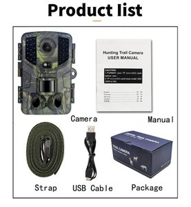 Cameras 2 Pack PR800 Trail Game Camera 16MP 1080P Waterproof Hunting Scouting Cam For Wildlife Monitoring With Night Vision