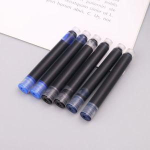 100pcs Jinhao Universal Black Blue Fountain Pen Ink Sac Cartridges 2.6mm Refills School Office Stationery H7EC XGJH