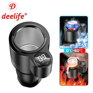 Deelife Car Heating Cooling Cup for Can Beverage Milk Warmer Auto Drink Cold and Mug