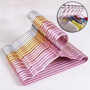 Hangers & Racks Children's Anti-slip Suit Hanger Durable Luxury Aluminum Alloy Traceless Closet Dress Clothes Towel Drying
