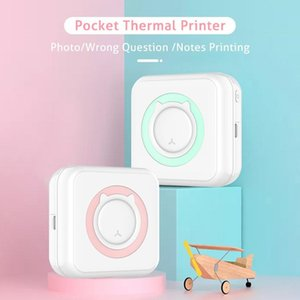 Printers Pocket Thermal Printer Portable Mini Wirelessly BT Connect 200dpi Po Label Memo List Printing Wireless Clearly