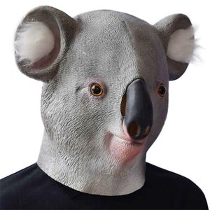 Neue Karneval Halloween Koala Maske Lustige Tanzparty Koala Head Tier Play Prop MaskhoLaseen Party Cosplay Lustige
