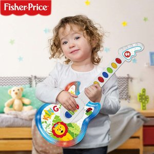 Fisher children with lights, multi-functional early education, educational music, electric guitar, bass toys