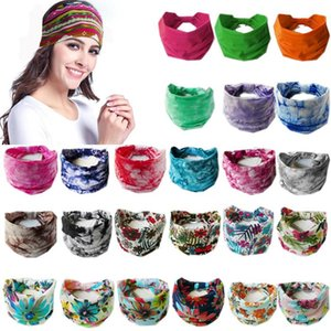 2021 Wide Sports Yoga Gym Stretch Cotton Headband Head Hair Band Girls Women Kids 96 colors