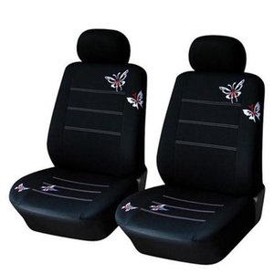 Universal Car Seat Protector Embroidery Butterfly Styling Cover Cushion Auto Asiento Coche For Women Covers