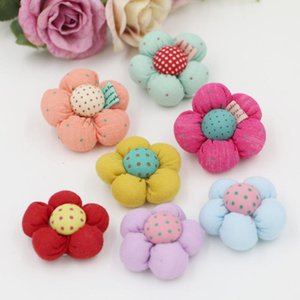 3.5~4cmX8pcs Cloth Small Flower For Kids Headband Diy Craft Supplies Brooch Production Clothing Making Headwear Decoration Decorative Flower