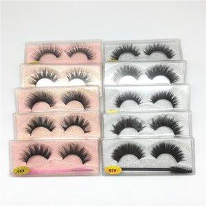 Natural 3D Eyelash Extension with Eye Brush New Soft Thick Faux Mink Lashes Handmade Resuable False Eyelashes