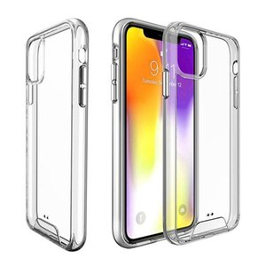 Phone Cases Premium SPACE Transparent Rugged Case Clear TPU PC Shockproof Cover For iPhone 12 11 pro max XR X 6 7 8 Plus Samsung S20 S10
