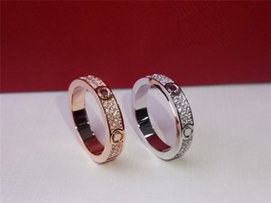 Luxury Designer Jewelry Womens And Mens Fashion Designer Rings Classic Diamond Love Ring Luxurys Golden Silver Color