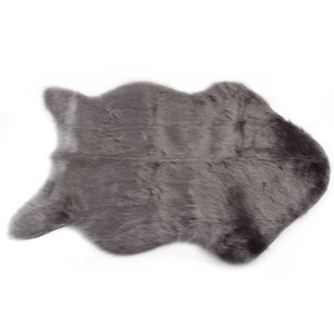 Carpets Faux Sheepskin Floor Carpet Chair Cover Warm Hairy Seat Pad Plain Skin Fur Fluffy Area Rugs Bedroom Mat For Living Room