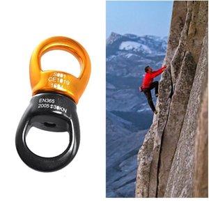 30kn Outdoor Climbing Carabiner Universal Wheel Gimbal Ring Yoga Swing Hammock Rope Swivel Rotational C jllipw