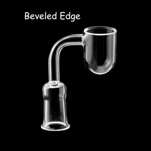 2021 Smoking Accessories Round Bottom Beveled Edge Quartz Banger Nails With Male Female Clear Joints For Glass Water Bongs