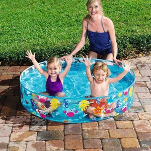Summer Baby Inflatable Swimming Pool PVC Kids Water Play Toy Round Basin Bathtub Outdoors Ocean Balls Play Toys X0710