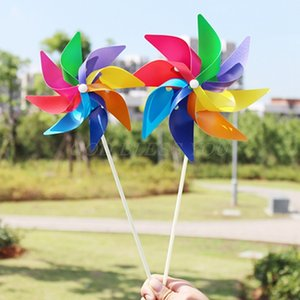 Garden Yard Party Camping Windmill Wind Spinner Ornament Decoration Kids Toy New Drop Shipping