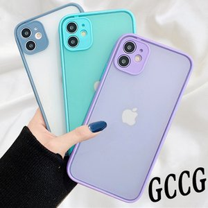 LX Brand Camera Lens Protection Bumper Phone Case on For iPhone 11 Pro Max XR XS MAX SE 12 X 8 6 6S 7 Plus Soft Silicone Back Cover Gift