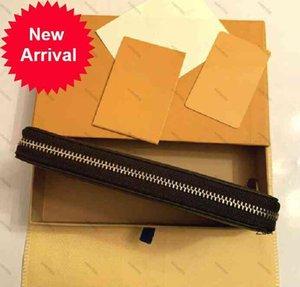 Unisex Brown Business Blume Münzen Geldbörse Karten Telefon Lagerung Lange Pu-Leder Brieftasche Einzelne Reißverschluss Handtasche Clutch Classic Checked